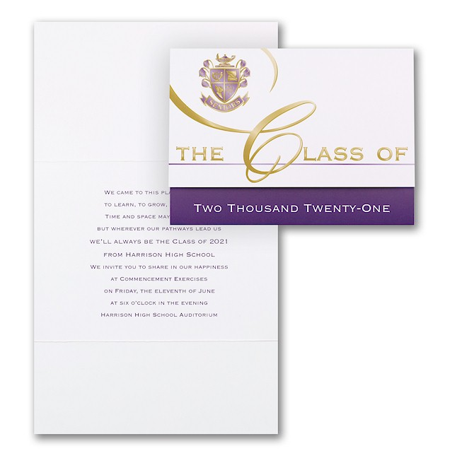 Custom Classic in Violet Grad Announcement